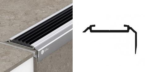 Алюминиевые порожки противоскользящие