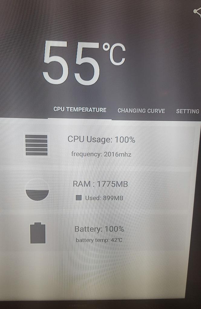 температура процессора х96 после доработки