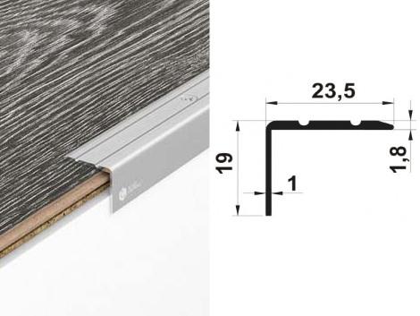 Алюминиевый порожек У2025