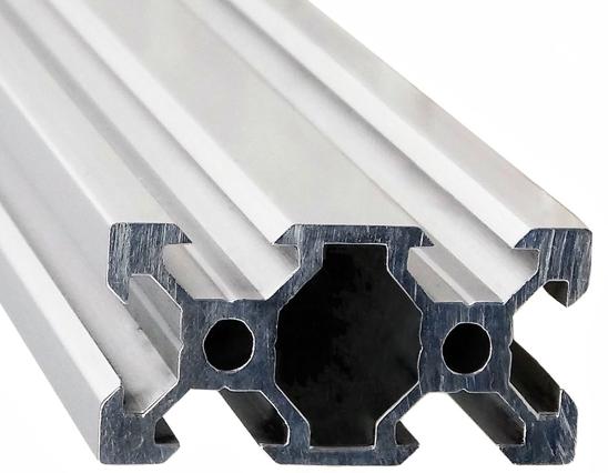 Cтаночный алюминиевый профиль с v образным пазом