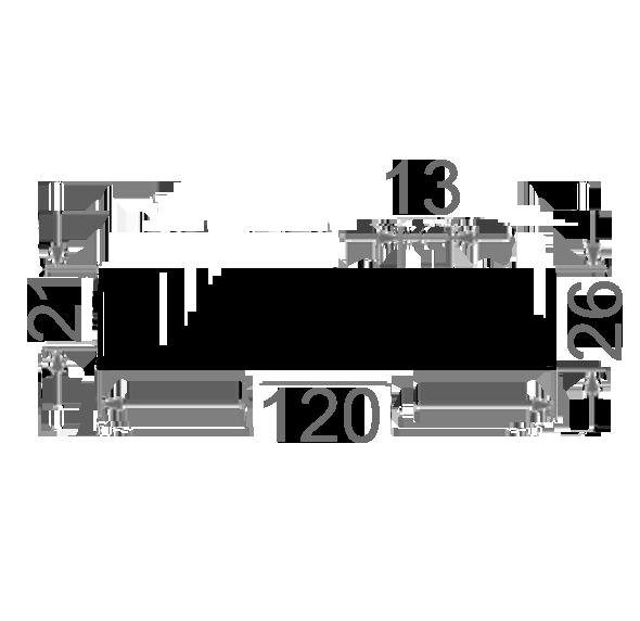 Радиаторный профиль 120х26